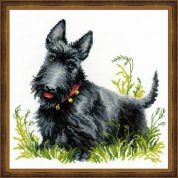 RIOLIS Counted Cross Stitch Kit Scottish Terrier
