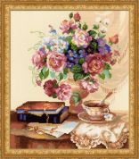 RIOLIS Counted Cross Stitch Kit Etude with Flowers