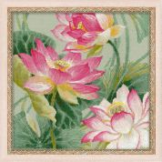 RIOLIS Counted Cross Stitch Kit Lotuses