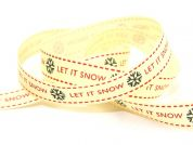 Berisford Let It Snow Christmas Print Ribbon