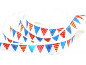 Berisfords Party Bunting Print Ribbon