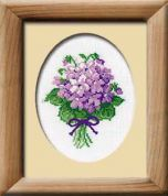 RIOLIS Counted Cross Stitch Kit Violets