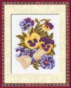 RIOLIS Counted Cross Stitch Kit Pansy Letter