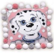 RIOLIS Counted Cross Stitch Kit Dog Cushion