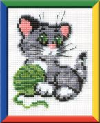 RIOLIS Counted Cross Stitch Kit Kitten with Ball