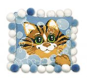 RIOLIS Counted Cross Stitch Kit Cat Cushion