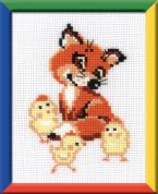 RIOLIS Counted Cross Stitch Kit Fox Cub with Chicks