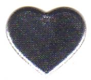 Berisford Metallic Padded Heart Shapes  100 Silver
