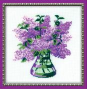 RIOLIS Counted Cross Stitch Kit Bunch of Lilacs