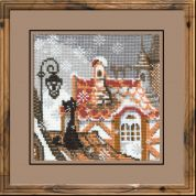 RIOLIS Counted Cross Stitch Kit City & Cats Winter