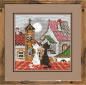 RIOLIS Counted Cross Stitch Kit City & Cats Spring