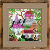 RIOLIS Counted Cross Stitch Kit City & Cats Summer