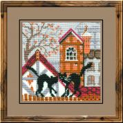 RIOLIS Counted Cross Stitch Kit City & Cats Autumn
