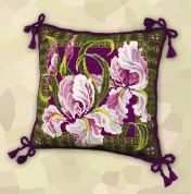 RIOLIS Counted Cross Stitch Kit Irises Cushion