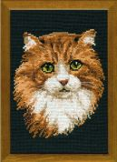 RIOLIS Counted Cross Stitch Kit Red Cat