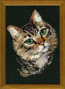 Riolis Counted Cross Stitch Kit Grey Cat