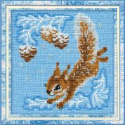 Riolis Counted Cross Stitch Kit Small Squirrel