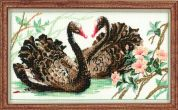RIOLIS Counted Cross Stitch Kit Black Swans