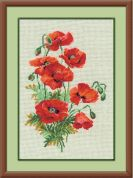 RIOLIS Counted Cross Stitch Kit Wild Poppies