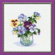 Riolis Counted Cross Stitch Kit Pansies