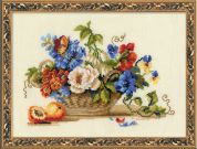 RIOLIS Counted Cross Stitch Kit Still Life with Peach