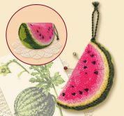 RIOLIS Counted Cross Stitch Kit Watermelon Pincushion 50mm x 75mm