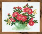 RIOLIS Counted Cross Stitch Kit Wild Rose