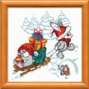 RIOLIS Counted Cross Stitch Kit Happy New Year 17.5cm