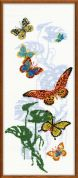 Riolis Counted Cross Stitch Kit Exotic Butterflies