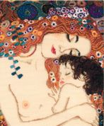 RIOLIS Counted Cross Stitch Kit G. Klimt Motherly Love