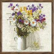 RIOLIS Counted Cross Stitch Kit Wildflowers