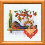 Riolis Counted Cross Stitch Kit Tomato & Eggplant