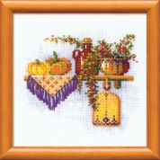 RIOLIS Counted Cross Stitch Kit The Little Regiment with Pumpkin