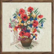 Riolis Counted Cross Stitch Kit Summer Flowers & Poppies