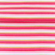 Stripe Tubular Ribbing Fabric  Pink
