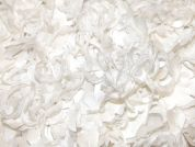 Rosanna Overlaid Flowers on Tulle Couture Bridal Lace Fabric  Ivory