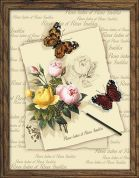 RIOLIS Embellished Counted Cross Stitch Kit Butterflies & Roses