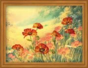 RIOLIS Embellished Counted Cross Stitch Kit Field of Poppies