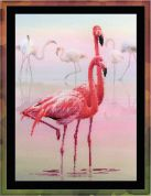 Riolis Embellished Counted Cross Stitch Kit Flamingo