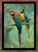 RIOLIS Embellished Counted Cross Stitch Kit Macaws Embellished Kit