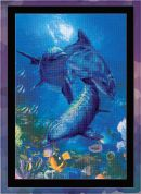 RIOLIS Embellished Counted Cross Stitch Kit Three Dolphins