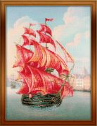 Riolis Embellished Counted Cross Stitch Kit Red Sails