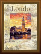 RIOLIS Embellished Counted Cross Stitch Kit Cities of the World, London