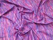 Ex London Designer Print 100% Cotton Lawn Dress Fabric  Pink & Purple
