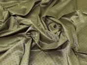 Lady McElroy Dotty Viscose Lining Fabric  Olive Green