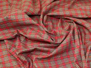 Lady McElroy Tartan Check Cotton Fabric  Red