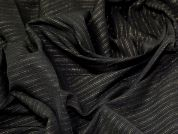 Lady McElroy Lurex Pinstripe Bengaline Fabric  Black & Gold