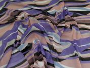 Lady McElroy Abstract Crinkled Chiffon Fabric  Purple