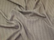 Lady McElroy Pinstripe Stretch Suiting Fabric  Taupe