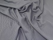 Lady McElroy Check Stretch Suiting Fabric  Blue Grey